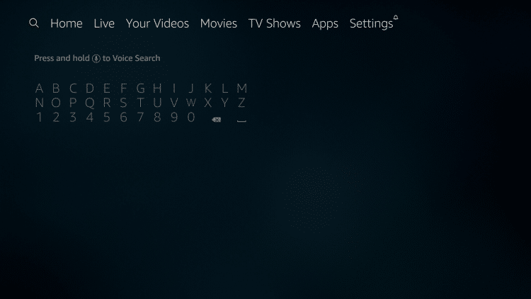 Search Downloader App FireStick