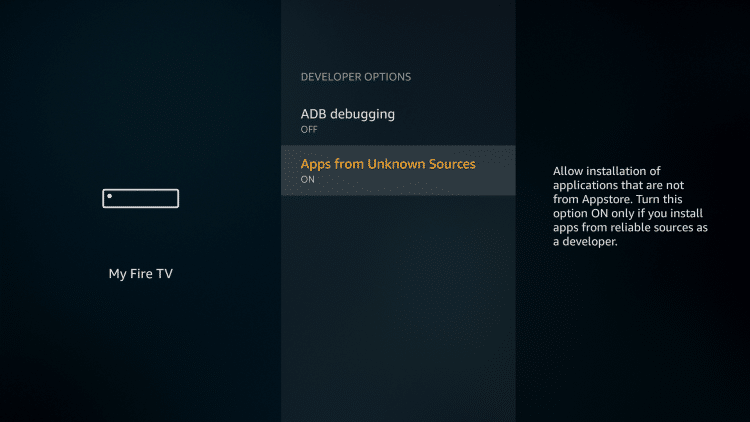 Enable Unknown Sources WATCHED APK