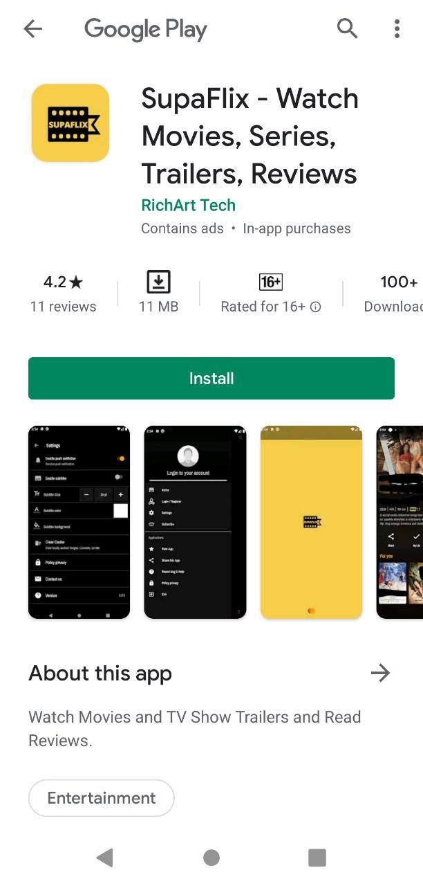 Install SupaFlix App