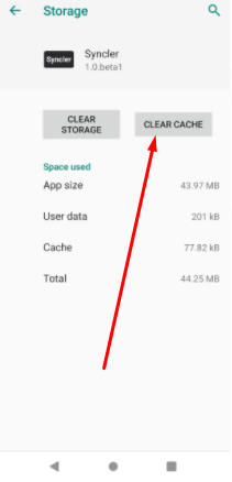 Clear Data & Cache - Syncler App