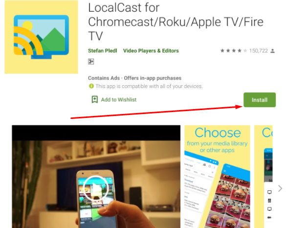 Install Localcast App