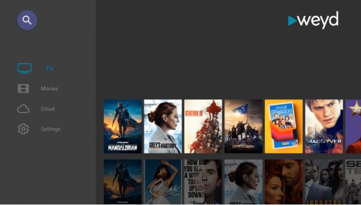 Weyd App Installed on FireStick & Fire TV
