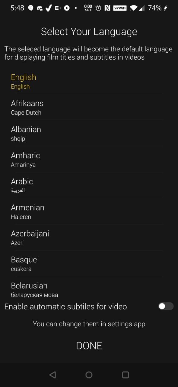 Languages CucoTV APK