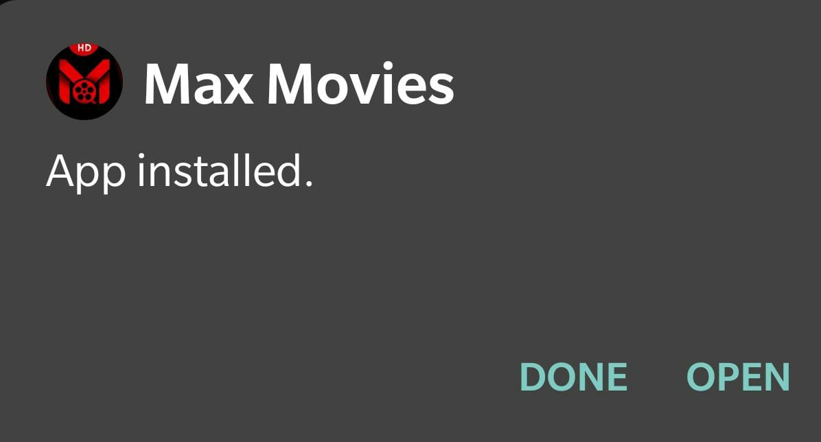 max movies installed