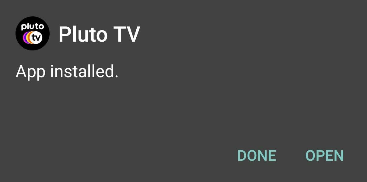 Pluto TV Installed