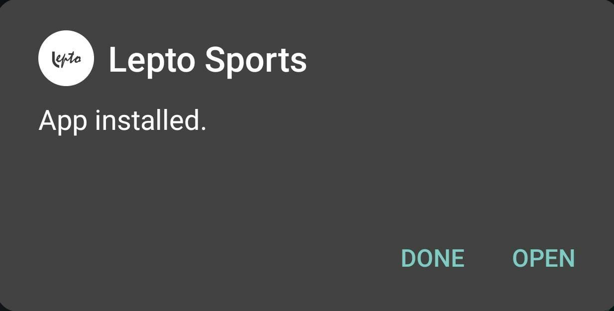 lepto-sports-APK-installed